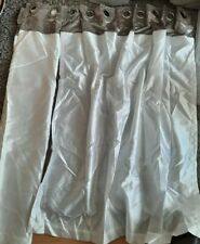 Crushed Velvet Band Curtains - Faux Silk - Eyelet Ring Top ,lined,MINT