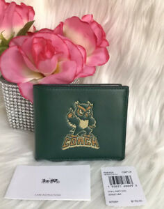 COACH  Men's ID BILLFOLD WALLET WITH PARTY OWL PRINT F88355