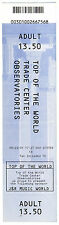 World Trade Center Ticket From 23 August 2001