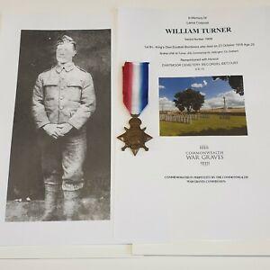 WW1 King's Own Scottish Borderers KIA 1916 KOSB 1914-15 Star Medal Battle Somme