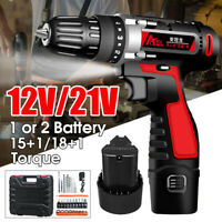 Electric Screwdriver Cordless Drill Impact Drill Power Driver 12V/21V Battery