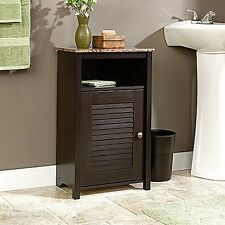 Wood Sauder Peppercorn Floor Cabinet Bathroom Bath Cabinets Cherry