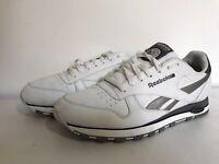 Reebok classic trainers white retro style mens size 10