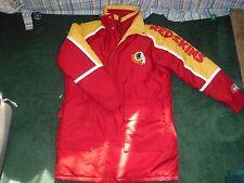 NEW Vintage Starter Washington Redskins Puffy Coat Parka w/ Hood Jacket Mens L