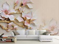 3D Wallpaper Living Room Mural Roll Modern Background Magnolia Bloom large Photo