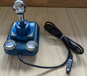 Competition Pro Star Blau Joystick C64/128 Amiga 500 Atari XL Spectrum C16 VC20