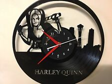 Repurposed Vinyl Record Clocks and Wall Art -  Harley Quinn-3 With Clock Label