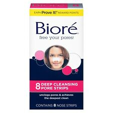 New Biore Deep Cleansing Pore Strips 8 Ct