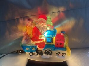 MERCK OWC OLD WORLD CHRISTMAS 1989 SANTA ON LOCOMOTIVE TRAIN LIGHT w BOX Rare!!!