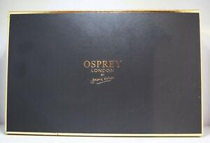 Osprey Black Leather Matinee Purse with Floral Design - Boxed, Brand New