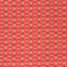 Amy Butler Bright Heart Grounded Coral Stitchy Dots Cotton Fabric - Per 1/4 M...