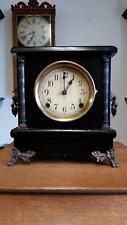 Sessions Black Enamel Mantel Clock
