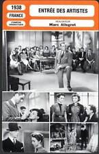 ENTREE DES ARTISTES - Jouvet,Joyeux (Fiche Cinéma) 1938 - The Curtain Rises