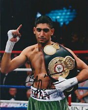 Amir KHAN Signed 10x8 Autograph Photo AFTAL COA WBA World Champion Boxer IBF