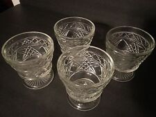 Four (4) Sherbert Glass Dishes  Footed