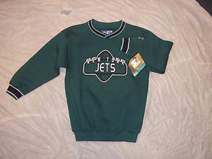 NFL NEW YORK JETS STARTER RETRO YOUTH GREEN EMBROIDERED SWEATSHIRT FREE SHIPPING