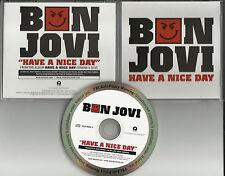 BON JOVI Have A Nice Day ULTRA RARE RADIO PROMO DJ CD single 2005 MINT