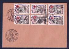 q/ enveloppe  série personnages révolution cachet journée du timbre 1989