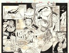 Avengers #389 pgs. 26 & 27 - Deathcry and Hercules - 1995 art by Fabio Laguna