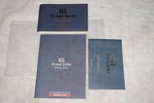 GRAND SEIKO SPRING DRIVE CHRONOGRAPH SBGC001 INSTRUCTION BOOK & WARRANTY CARD