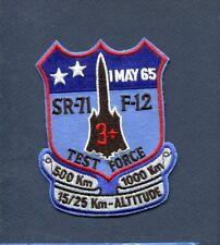 LOCKHEED SR-71 BLACKBIRD TEST FORCE MACH 3 + USAF RECON TRS Squadron Patch