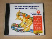 CD RARE / PLUS BELLES CHANSONS DES FILMS DE WALT DISNEY, ALBUM ANNIVERSAIRE 2