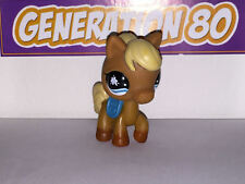 Littlest PetShop Poney Marron Selle Bleue N°840 Horse Pony Pet Shop