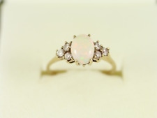Opal Cluster Ring 9ct Gold Ladies Stunning Size L 1/4 375 2g Ec8