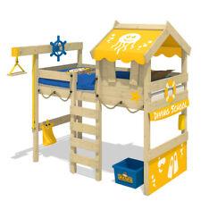 WICKEY Kinderbett Hochbett Crazy Jelly - gelbe Plane Hausbett 90 x 200 cm