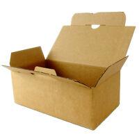 20x Faltkarton mit Automatikboden 180 x 100 x 70mm Quick Box braun Kartons