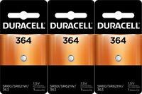 Duracell 364 Watch and Calculator Batteries x 3