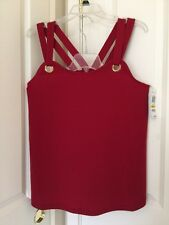 Women INC International Concepts Glazed Berry Grommet Tank Top Sz M