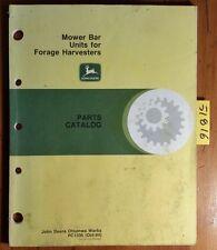 John Deere Mower Bar Units for Forage Harvester Parts Catalog Manual Pc1336 '94