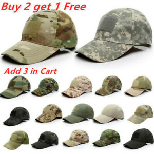 Mens Camo Tactical Operator Baseball Hats Military Army Camoflage Airsoft Caps