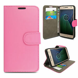 For Motorola Moto E5 Play 2018 Wallet PU Leather Book Card Slots Stand View Case