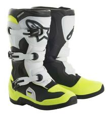 Alpinestars Tech 3S MX Motocross Boots Black White Yellow Kids & Youth