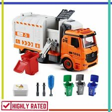 GARBAGE TRUCK TOY Waste Management Recycling Vehicles with Light Sound FLANNEY