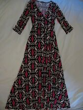 Chelsea Verde 'Time After Time' Maxi Dress Sz M - Beautiful Black, Beige & Pink