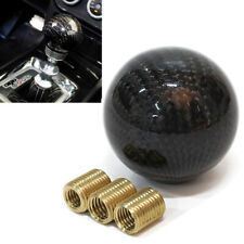 Manual Car Black Carbon Fiber Gear Shift Knob Shifter Lever Round Ball Universal
