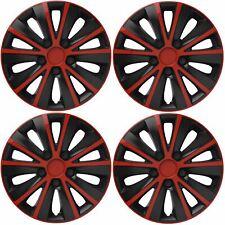 "15/"" 15 INCH CAR VAN WHEEL TRIMS HUB CAPS RED /& BLACK VW SHARAN 06-10"