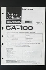 Pioneer CA-100 originale Manuel de service / CIRCUIT descritions