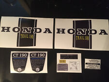 CT70 K1 CT190 Custom Black frame decals, 190cc graphics, Complete Set!!