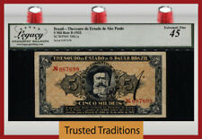 TT PK S861a 1932 BRAZIL 5 MIL REIS SINGULAR NOTE EVER SEEN AND CERTIFIED BY PMG