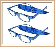 Reading Glasses[+1.50] 2 Plastic Frame Fashion Design Reader Matching Pouch 1.50