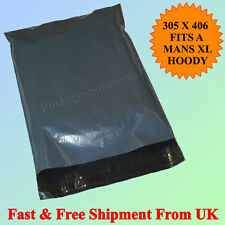 """100 Grey Mailing Postage bags 12"""" X 16"""" Fast & Free Postage Excellent Cheapest!!"""