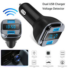 Charger Car Usb Dual Quick Led Display Adapter Charge GPS Track Fast 5v Phone