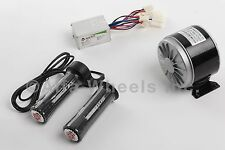350 W 24 V DC electric motor kit w speed controller & Twist Throttle
