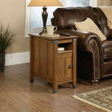 """Narrow End Table Side With Storage Rustic For Small Spaces 14"""" Sofa Couch Bed"""