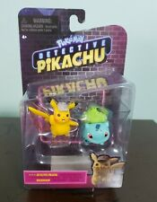 """NEW"" Pokemon Detective Pikachu BULBASAUR & PIKACHU Mini 2-Pack Figures"