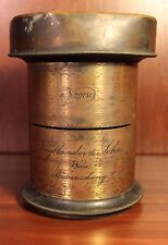Antique Brass Photo Lens Voigtlander No. 5 Old Vintage Camera 1884